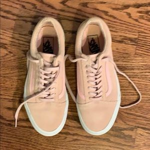 Women's leather pink vans. - like new